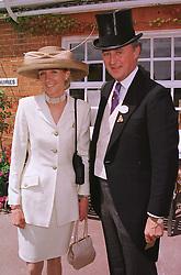 The DUKE & DUCHESS OF ROXBURGHE at Royal Ascot on 15th June 1999.MTG 73