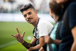 October 20, 2018 - Turin, Piedmont, Italy - The italian rapper Moreno Donadoni during the Serie A match between Juventus and Genoa at the Allianz Stadium, the final score was 1-1 in Turin, Italy on 20 October 2018. (Credit Image: © Alberto Gandolfo/Pacific Press via ZUMA Wire)