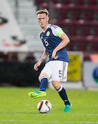 Scotland's Jordan McGhee during Scotland Under-21 v FYR Macedonia,  UEFA Under 21 championship qualifier  at Tynecastle, Edinburgh. Photo: David Young<br /> <br />  - © David Young - www.davidyoungphoto.co.uk - email: davidyoungphoto@gmail.com