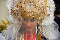 Italie, Sicile, Marsala, Paques, procession de la passion du christ, vendredi saint, les Veronique //  Italy, Sicily, Marsala, Holy Thursday, procession of Mistery (Processione dei Misteri viventi), la Veronica
