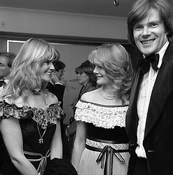 Left to right, sisters LADY CHARLOTTE DINAN and LADY MARY-GAYE CURZON at The Rose Ball held at The Grosvenor House Hotel, London in May 1979.