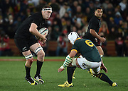 JOHANNESBURG, South Africa, 25 July 2015 : Heinrich Brussow of the Springboks prepares to tackle Brodie Retallick of the All Blacks during the Castle Lager Rugby Championship test match between SOUTH AFRICA and NEW ZEALAND at Emirates Airline Park in Johannesburg, South Africa on 25 July 2015. Bokke 20 - 27 All Blacks<br /> <br /> © Anton de Villiers / SASPA