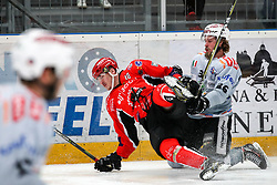 during Ice Hockey match between HDD SIJ Acroni Jesenice and Rittner Buam in 2nd Semifinal of Alpine League 2017/18 on March 24, 2018 in Arena Podmezakla, Jesenice, Slovenia. Photo by Urban Urbanc / Sportida