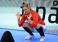 Freja Cohrt fra Danmark under VM-playoff-kampen mellem Danmark og Schweiz i Roskilde Kongrescenter Bauhaus Arena, den 1.6.2019. Photo Credit: Allan Jensen/Søren Tidemann/EVENTMEDIA.
