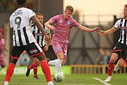 Andy Cannon shoots during the Carabao Cup match between Grimsby Town FC and Rochdale at Blundell Park, Grimsby, United Kingdom on 14 August 2018.