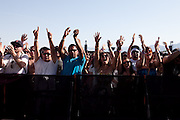 Fans at the 2010 Coachella Music Festival in Indio, CA on April 16, 2010.