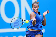 Madison Keys in action during the final during the Aegon Classic at Edgbaston Priory Club, Birmingham, United Kingdom on 19 June 2016. Photo by Shane Healey.