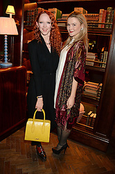 Left to right, MORWENNA LYTTON COBBOLD and AMBER ATHERTON at the launch of Rosewood London - a new luxury hotel at 252 High Holborn, London WC1 on 30th October 2013.