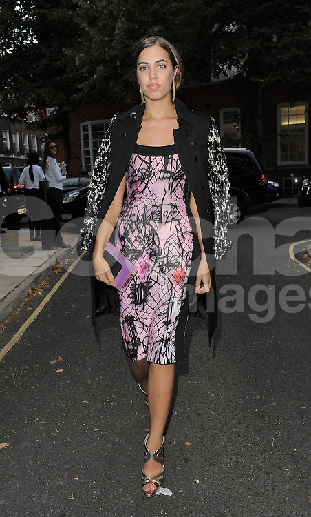 Amber Le Bon attends the GILES show during London Fashion Week Spring Summer 2015 in London, UK. 15/09/2014<br />