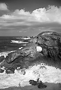 View of the great rock formations of the Arecibo coast