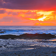 Sunset At Bob Creek - Oregon Coast