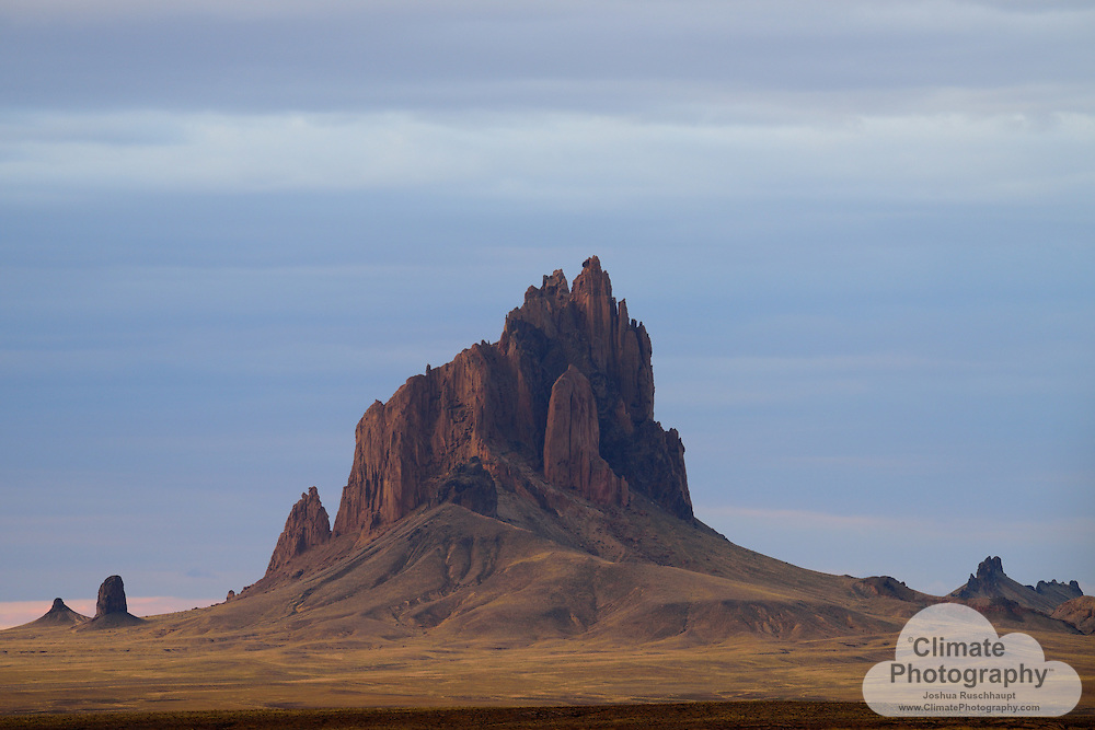Shiprock, in northwestern New Mexico, is a spiritual bird known as Tse Bi dahi to the Navajo nation and people, responsible for relocating them to safety.  To rock climbers it was (no longer permitted) a goal to be conquered.  To photographers it is a geologic location with vast potential.  To an environmentalist it is also a geographic symbol of the locale where two of America's most polluting coal mines and power plants, the Four Corners and San Juan power plants, generate electricity.  It is a beautiful tragedy of the modern population that must live with the local air and water pollution and global climate change.