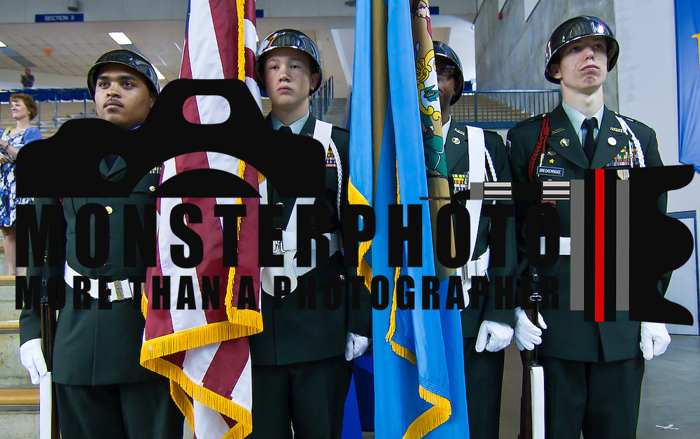 060511 Newark DE: Mount Pleasant JROTC Presentation of color segment of Mount Pleasant commencement Exercises Sunday, June 5, 2011 at The Bob Carpenter Center in Newark Delaware...Special to The News Journal/SAQUAN STIMPSON