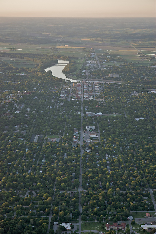 aerial image of Lawrence, KS,