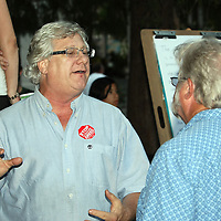 Small business owner Richard Richmond of Melbourne Beach expresses his views during an Occupy Orlando public demonstration in support of Occupy Wall Street gatherings across the country, at the Orange County History Center on Wednesday, October 5, 2011 in Orlando, Florida. (AP Photo/Alex Menendez)