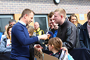 Derby manager Gary Rowett arrives at the Pirelli Stadium during the EFL Sky Bet Championship match between Burton Albion and Derby County at the Pirelli Stadium, Burton upon Trent, England on 14 April 2018. Picture by John Potts.