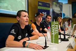 Jani Brajkovic during press conference of cycling race Tour Slovenia 2018, on May 17, 2018, in Ljubljana, Slovenia. Photo by Vid Ponikvar / Sportida