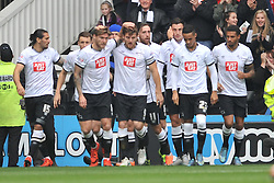 Derby Celebrate Chris Martins First Goal, Derby County v Wolves, Ipro Stadium, Sky Bet Championship, Sunday 18th October 2015 (Score Derby 4, Wolves, 1)Derby County v Wolves, Ipro Stadium, Sky Bet Championship, Sunday 18th October 2015 (Score Derby 4, Wolves, 1)