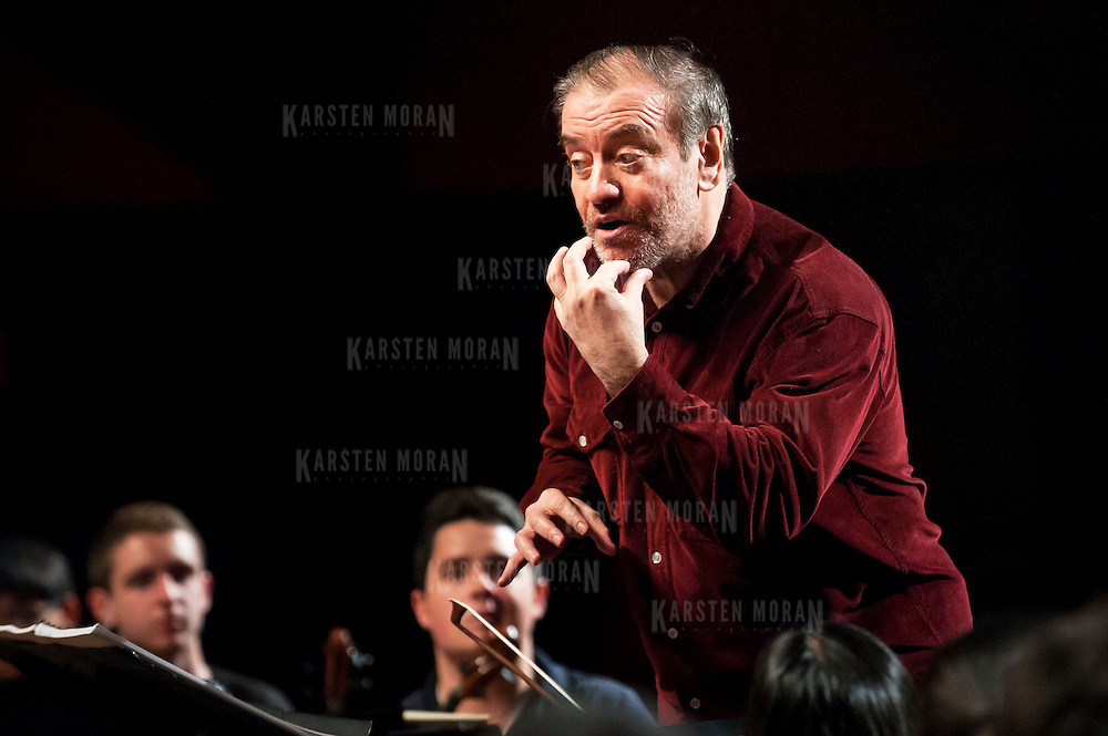 July 9, 2013 - Purchase, NY : Russian conductor Valery Gergiev provides feedback as he leads the National Youth Orchestra of the United States of America in  rehearsal at SUNY Purchase's Performing Arts Center in Westchester on Tuesday afternoon. The Orchestra, a new project of Carnegie Hall's Weill Music Institute, is comprised of musicians aged 16-19, hand-picked from across the country. The program -- and orchestra -- will kick off its inaugural season with a performance at SUNY Purchase on Thursday evening, and then head off to perform in Washington DC,  Moscow, St. Petersburg, and London. CREDIT: Karsten Moran for The New York Times
