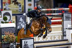 GRIESE Henrik (GER), Pikeur Lord Fauntleroy<br /> Grand Prix von Volkswagen<br /> Int. jumping competition over two rounds (1.55 m) - CSI3*<br /> Comp. counts for the LONGINES Rankings<br /> Braunschweig - Classico 2020<br /> 08. März 2020<br /> © www.sportfotos-lafrentz.de/Stefan Lafrentz