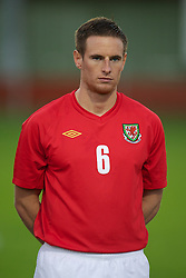 NEWTOWN, WALES - Tuesday, September 14, 2010: Wales' Ashley Williams (Airbus UK Broughton) before the Under-23 Semi-Pro International Friendly match against England at Latham Park. (Photo by David Rawcliffe/Propaganda)