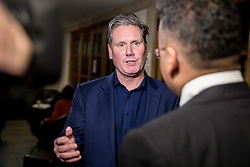 © Licensed to London News Pictures. 13/01/2018. London, UK. Shadow Secretary of State for Exiting the European Union Keir Starmer speaks to media after speaking at the Fabian Society 2018 Conference. The conference title is 'Policy Priorities for the Left'. Photo credit : Tom Nicholson/LNP