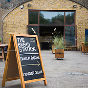 Bread and pastries at the Breadstation in Hackney.