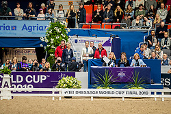 Winter-Schulze Madeleine, GER<br /> Göteborg - Gothenburg Horse Show 2019 <br /> FEI Dressage World Cup™ Final II<br /> Grand Prix Freestyle/Kür<br /> Longines FEI Jumping World Cup™ Final and FEI Dressage World Cup™ Final<br /> 06. April 2019<br /> © www.sportfotos-lafrentz.de/Stefan Lafrentz