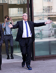 © Licensed to London News Pictures. 26/06/2017. LONDON, UK.  JONATHAN KING (real name Kenneth King) leaves Westminster Magistrates court in London. Ex DJ, Jonathan King, aged 72 is accused of historic child sex offences between 1970 and 1986 when the male victims were aged between 14 and 16.  Photo credit: Vickie Flores/LNP
