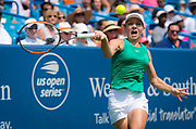 Simona Halep of Romania in action during the final of the 2018 Western and Southern Open WTA Premier 5 tennis tournament, Cincinnati, Ohio, USA, on August 19th 2018 - Photo Rob Prange / SpainProSportsImages / DPPI / ProSportsImages / DPPI