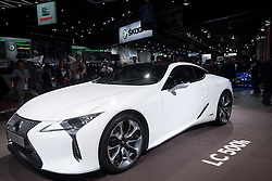 New Lexus LC500h hybrid coupe at Paris Motor Show 2016