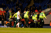 Fabrice Muamba being being taken off after being taken ill on the pitch