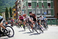 Hannah Barnes (GBR) in the lead group on Stage 5 of 2019 Giro Rosa Iccrea, a 88.8 km road race from Ponte in Valtellina to Lago di Cancano, Italy on July 9, 2019. Photo by Sean Robinson/velofocus.com