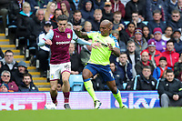 Aston Villa v Derby County - Sky Bet Championship<br /> BIRMINGHAM, ENGLAND - APRIL 28 :  Jack grealish, of Aston Villa, is challenged by Derby's Andre Wisdom