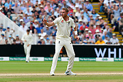 Wicket - Stuart Broad of England asks the question and David Warner of Australia is given out after a review during the International Test Match 2019 match between England and Australia at Edgbaston, Birmingham, United Kingdom on 3 August 2019.