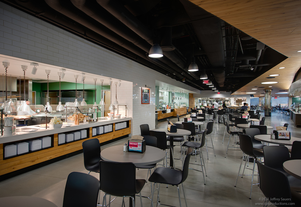 University of Delaware Dining Hall interior image by Jeffrey Sauers of Commercial Photographics, Architectural Photo Artistry in Washington DC, Virginia to Florida and PA to New England