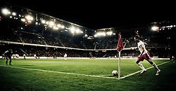 21.10.2010, Red Bull Arena, AUT, UEFA EL, FC Salzburg (AUT) vs Juventus Turin (ITA) , im Bild Feature, Eckball, Dusan Svento, (FC Red Bull Salzburg, Mittelfeld, #18), Bild bearbeitet, EXPA Pictures © 2010, PhotoCredit: EXPA/ J. Feichter