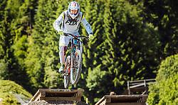 07.06.2016, Bikepark, Leogang, AUT, OeSV, Ski Alpin, Trainingslehrgang Mountainbike, im Bild Klaus Kroell während eines Mountainbike Grundkurses der ÖSV Abfahrer // during a mountain Basic training of the Austrian Ski Alpine downhill team at the Bikepark, Leogang, Austria on 2016/06/07. EXPA Pictures © 2016, PhotoCredit: EXPA/ JFK