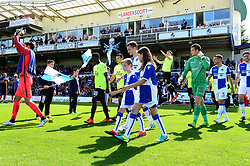 Mascot walk out - Mandatory by-line: Dougie Allward/JMP - 12/08/2017 - FOOTBALL - Memorial Stadium - Bristol, England - Bristol Rovers v Peterborough United - Sky Bet League One