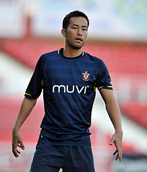 Southampton's Maya Yoshida  - Photo mandatory by-line: Alex James/JMP - Tel: Mobile: 07966 386802 15/07/2014 - SPORT - FOOTBALL - County Ground- Swindon  -  Swindon Town V Southampton  - preseason