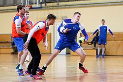 Blaz Blagotinsek at practice session of handball team Slovenia before the match against Germany, on May 01, 2017 in Vojasnica Edvarda Peperka, Ljubljana, Slovenia. Photo by Matic Klansek Velej / Sportida
