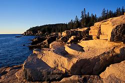 Acadia National Park, ME.Maine Coast. Ocean Drive. Granite coast.