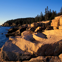 Acadia National Park, ME.Maine Coast. Ocean Drive. Granite coast.