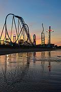 Cedar Point at sunset.