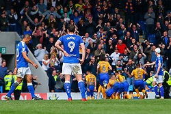 Chesterfield players cut a dejected look after conceding - Mandatory by-line: Ryan Crockett/JMP - 14/04/2018 - FOOTBALL - Proact Stadium - Chesterfield, England - Chesterfield v Mansfield Town - Sky Bet League Two