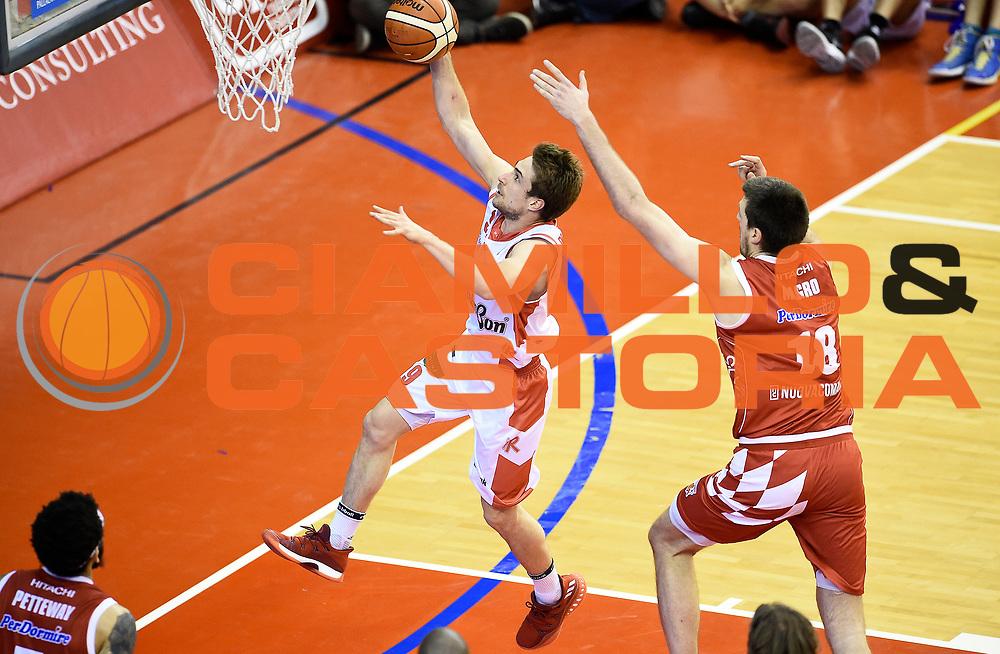 Andrea De Nicolao<br /> Grissin Bon Pallacanestro Reggio Emilia - The Flexx Pistoia Basket<br /> Lega Basket Serie A 2016/2017<br /> Reggio Emilia, 30/04/2017<br /> Foto A.Giberti / Ciamillo - Castoria