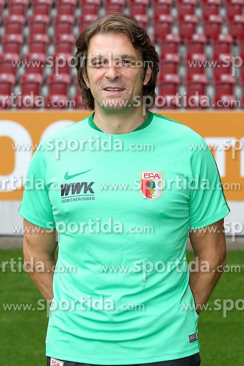 08.07.2015, WWK Arena, Augsburg, GER, 1. FBL, FC Augsburg, Fototermin, im Bild Mannschaftsarzt Andreas Weigel (FC Augsburg) // during the official Team and Portrait Photoshoot of German Bundesliga Club FC Augsburg at the WWK Arena in Augsburg, Germany on 2015/07/08. EXPA Pictures &copy; 2015, PhotoCredit: EXPA/ Eibner-Pressefoto/ Kolbert<br /> <br /> *****ATTENTION - OUT of GER*****