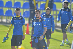 November 13, 2017 - Mogosoaia, Romania - Florin Tanase, Mihai Balasa of Romania Football Team during a training session at Mogosoaia, Romania on 13 November 2017. (Credit Image: © Alex Nicodim/NurPhoto via ZUMA Press)