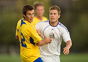 09 September 2011:  Action during a men's soccer game between the University of British Columbia Thunderbirds and the Victoria Vikes at Thunderbird Park, University of British Columbia, Vancouver, BC, Canada.  Final Score:   ****(Photo by Bob Frid/UBC Athletics) 2011 All Rights Reserved****