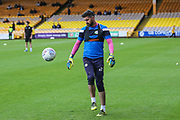 Forest Green Rovers goalkeeper Sam Russell(23) warming up during the EFL Sky Bet League 2 match between Port Vale and Forest Green Rovers at Vale Park, Burslem, England on 16 September 2017. Photo by Shane Healey.